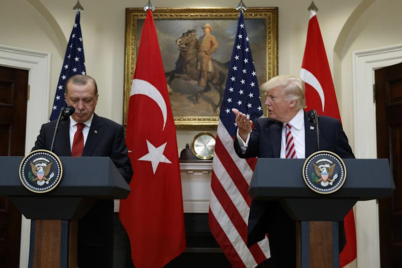 Erdogan says US  'wrong' to threaten Turkey after Trump doubles tariffs