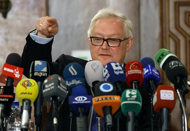 "Russian Deputy Foreign Minister Sergei Ryabkov said he sees ""no reason whatsoever"" to change the 2015 Iran nuclear deal (AFP Photo/LOUAI BESHARA)"