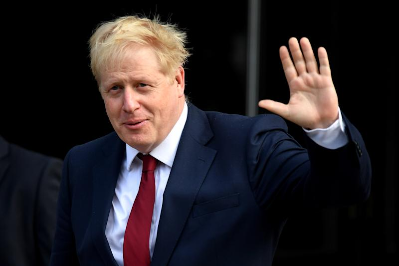 MANCHESTER, ENGLAND - SEPTEMBER 30: UK Prime Minister, Boris Johnson arrives ahead of day two of the 2019 Conservative Party Conference at Manchester Central on September 30, 2019 in Manchester, England. Despite Parliament voting against a government motion to award a recess, the Conservative Party Conference still goes ahead. Parliament will continue with its business for the duration. (Photo by Jeff J Mitchell/Getty Images)