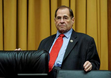 FILE PHOTO: U.S. Rep. Jerrold Nadler (D-NY) waits for U.S. Secretary of Homeland Security Kirstjen Nielsen to testify to the House Judiciary Committee hearing on oversight of the Department of Homeland Security on Capitol Hill in Washington, U.S., December 20, 2018. REUTERS/Joshua Roberts/File Photo