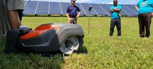 Husqvarna Automower® deployed at Tennessee solar project. Source: Solar Alliance.