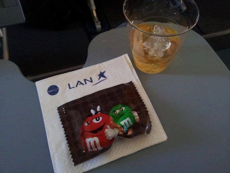 After our late lunch, I had myself a free whisky and some of the M&Ms they were handing out. That was pretty great to do while watching Seven Psychopaths, a movie I'm still deciding if I like.