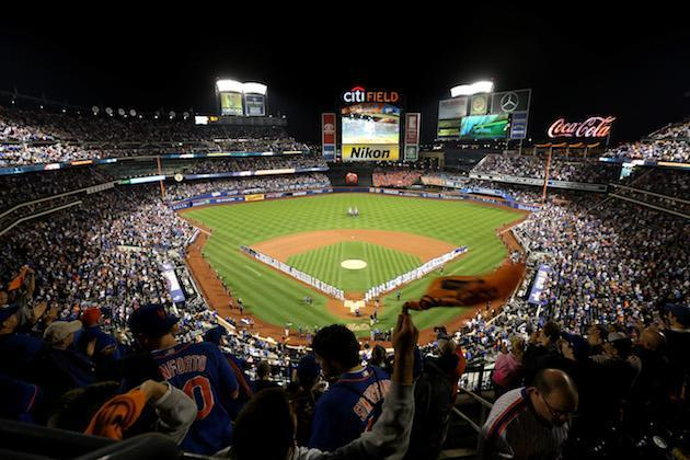 """NEW YORK, NY – OCTOBER 05: A general view during pre-game ceremonies for the National League Wild Card game between the <a class=""""link rapid-noclick-resp"""" href=""""/mlb/teams/nym/"""" data-ylk=""""slk:New York Mets"""">New York Mets</a> and the <a class=""""link rapid-noclick-resp"""" href=""""/mlb/teams/sfo/"""" data-ylk=""""slk:San Francisco Giants"""">San Francisco Giants</a> at Citi Field on October 5, 2016 in New York City. (Photo by Michael Reaves/Getty Images)"""