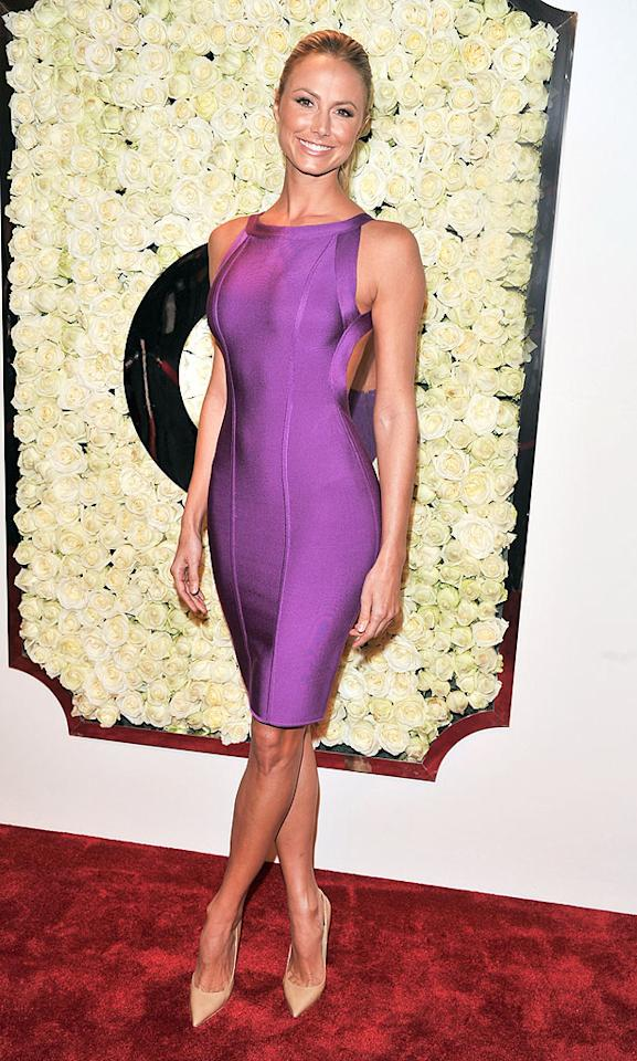 """BEVERLY HILLS, CA - FEBRUARY 23:  Stacy Keibler attends the QVC's""""Buzz On The Red Carpet"""" Cocktail Party at Four Seasons Hotel Los Angeles at Beverly Hills on February 23, 2012 in Beverly Hills, California.  (Photo by George Pimentel/WireImage)"""