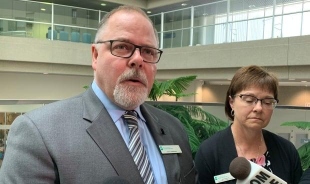 Scott Livingstone, the CEO of the Saskatchewan Health Authority, apologized for the testing error on Tuesday. (Guy Quenneville/CBC - image credit)