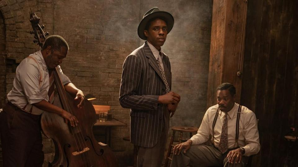 <p> Containing Chadwick Boseman&#x2019;s final performance, Ma Rainey&#x2019;s Black Bottom stars Viola Davis as the eponymous Ma Rainey, a singer known as the &#x201C;Mother of the Blues.&#x201D; Set across the course of one afternoon in 1927, tensions rise as Ma Rainey challenges her manager and producer &#x2013; while Boseman&#x2019;s Levee, a trumpeter, has ambitious plans of his own. The film is adapted from the August Wilson play of the same name, and Denzel Washington produces.&#xA0; </p> <p> The film is swept along by its two potent central performances, Davis generating hefty diva-power with her proud, obstinate, blues-preaching Ma, determined not to be reduced to a ripped-off voice. Boseman&#x2019;s wiry, angry Levee brings the film&#x2019;s real charge, however, giving every rippling horn improv, fierce God-taunting rant, and soft-shoe shuffle the urgency of a man racing to make his mark with his art. The desperate, eloquent force of his performance gives this muscular film added punch and poignancy. </p>