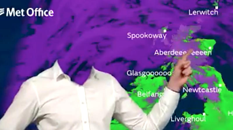 Weather Forecaster Loses His Head During Halloween Report