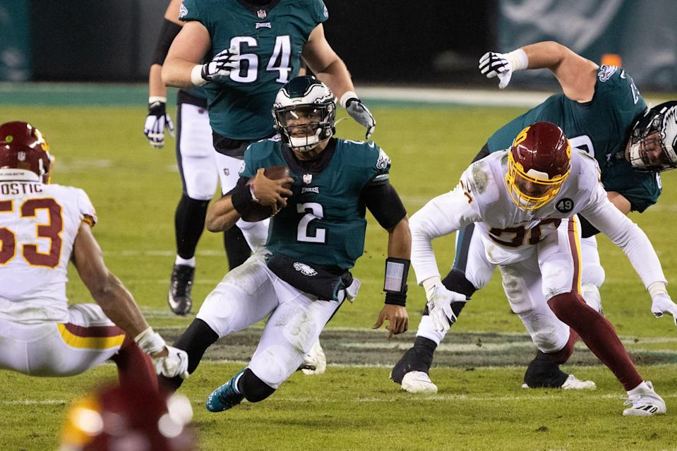 Jalen Hurts now is the presumed starting QB for the Eagles in 2021.