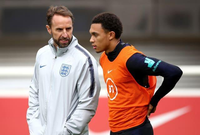 Liverpool defender Trent Alexander-Arnold, right, was overlooked by Gareth Southgate earlier this year