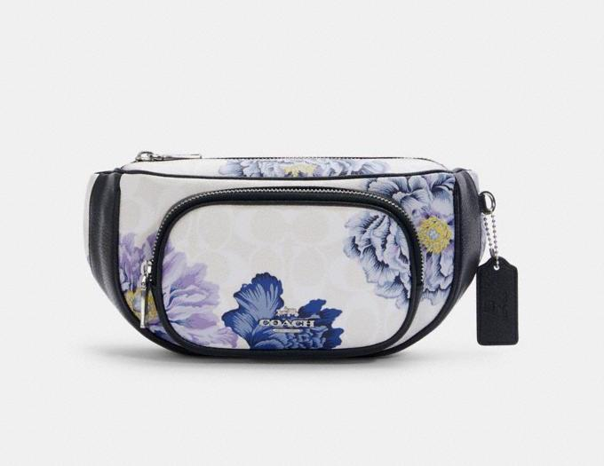 Court Belt Bag In Signature Canvas With Kaffe Fassett Print. Image via Coach Outlet.