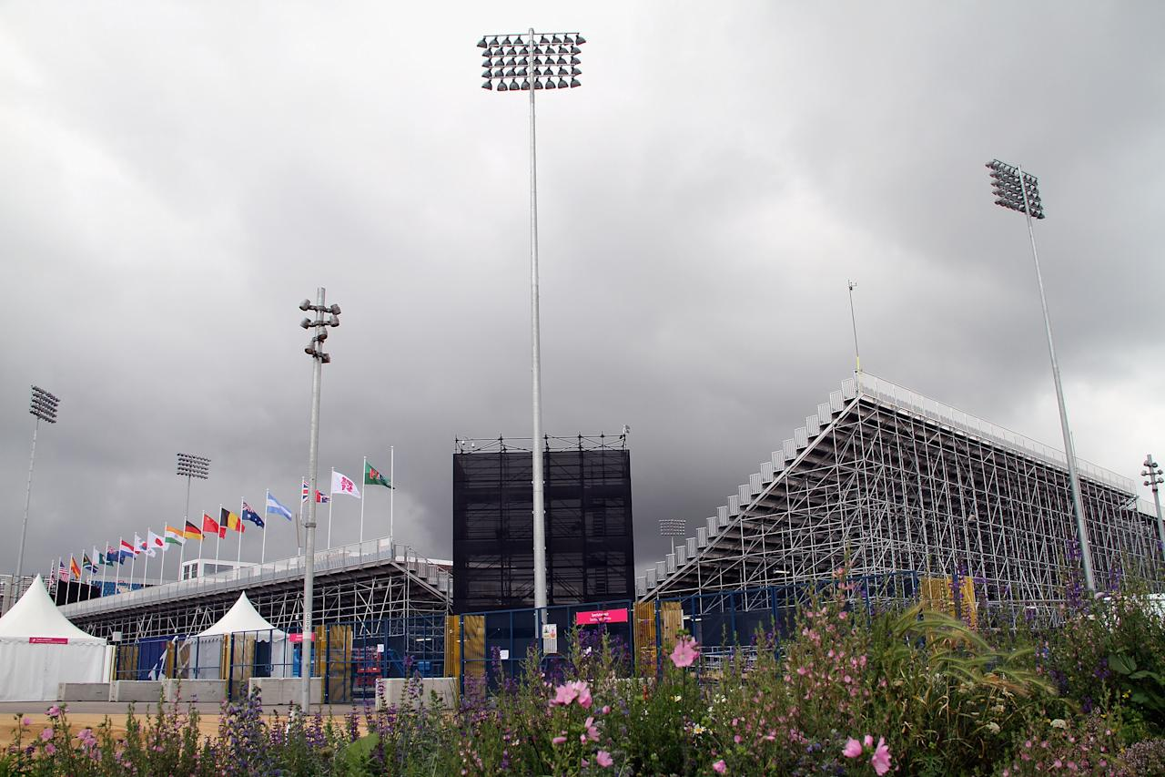 LONDON, ENGLAND - JULY 14: General view of the Hockey Stadium at the Olympic Park on July 14, 2012 in London, England.  (Photo by Stanley Chou/Getty Images)