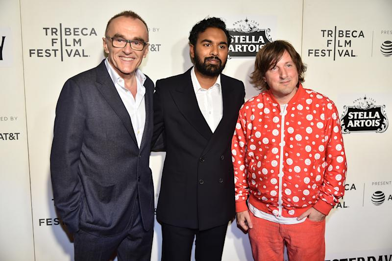 "NEW YORK, NEW YORK - MAY 04: Danny Boyle, Himesh Patel and Daniel Pemberton attend ""Yesterday"" Closing Night Gala Film - 2019 Tribeca Film Festival at BMCC Tribeca PAC on May 04, 2019 in New York City. (Photo by Theo Wargo/Getty Images for Tribeca Film Festival)"