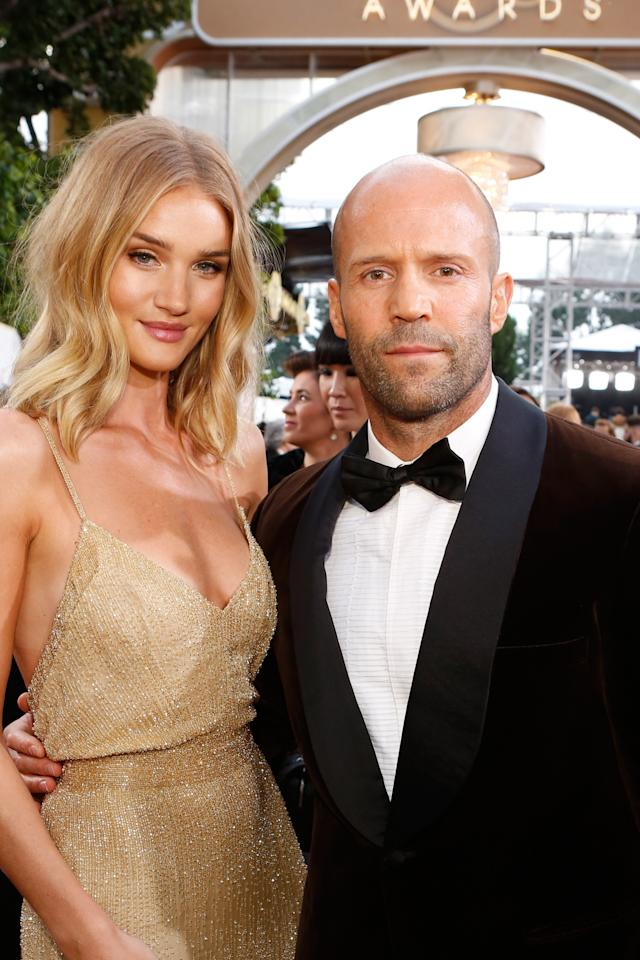 "<p>Models and actors are a common love match, and the <i>Spy </i>actor and the Victoria's Secret Angel just announced their engagement. Of the six-year relationship, Huntington-Whiteley told <i>Self </i>magazine last spring: ""We're best mates. He makes me laugh every day."" <i>(Photo: Getty Images)</i></p><p><i><br /></i></p>"