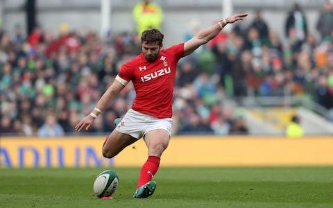 Leigh Halfpenny kicks for points - Credit: Niall Carson/PA