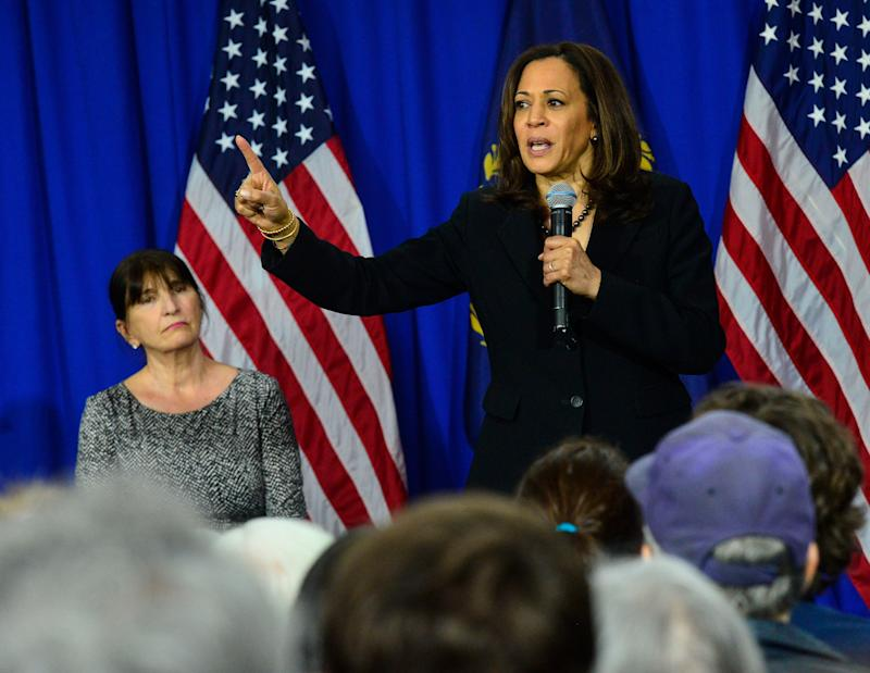 Democratic presidential candidate Sen. Kamala Harris, D-Calif., speaks at Keene State College in Keene, New Hampshire, April 23, 2019.