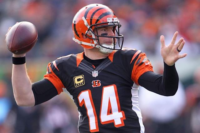 "<a class=""link rapid-noclick-resp"" href=""/nfl/players/24822/"" data-ylk=""slk:Andy Dalton"">Andy Dalton</a> highlights this week's look at recent fantasy football risers (Getty Images)"