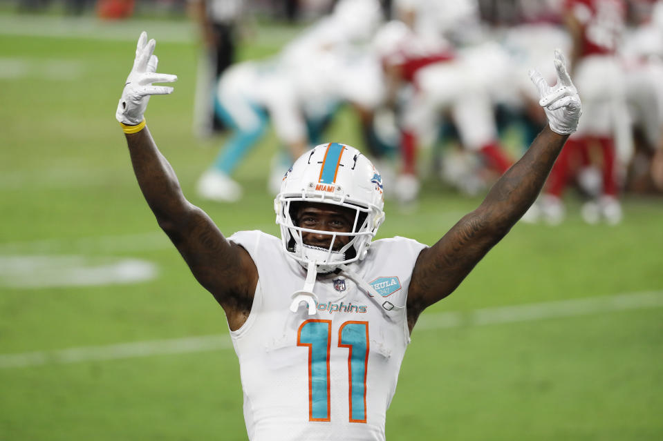 DeVante Parker #11 of the Miami Dolphins