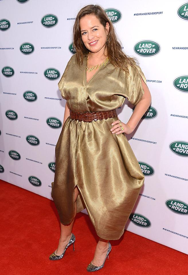 Is Jade Jagger taking styling tips from Kim K.? Hey, at least there's plenty of room in that muumuu to comfortably bust a move like her famous father. (3/26/2013)