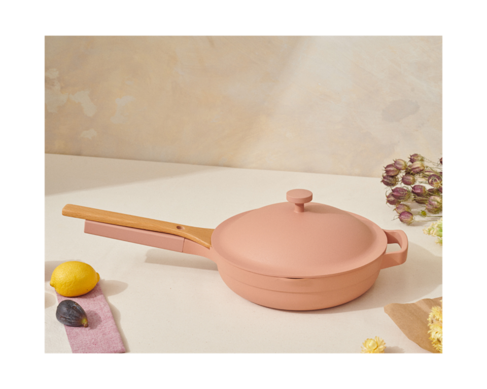 """<h2>Our Place Always Pan</h2><br>R29's associate lifestyle writer Alexandra Polk has a tiny city kitchen. So small that she's mainly avoided investing in any cookware at all (she's a self-professed takeout queen). So putting <a href=""""https://www.refinery29.com/en-us/always-pan-review"""" rel=""""nofollow noopener"""" target=""""_blank"""" data-ylk=""""slk:the internet-famous Always Pan from Our Place"""" class=""""link rapid-noclick-resp"""">the internet-famous Always Pan from Our Place</a> was a true test of wits (cooking!) as well as utility. She was most delighted by its one-pan dinner capabilities and the use of its steamer add-on which produced delightful Trader Joe's potstickers steamed to perfection. One-pan cooking isn't for everyone, but it made sense for Alexandra and dozens of R29ers. And yes, it's a really pretty trophy pan too.<br><br><em>Shop <strong><a href=""""https://fromourplace.com/products/always-essential-cooking-pan"""" rel=""""nofollow noopener"""" target=""""_blank"""" data-ylk=""""slk:Our Place"""" class=""""link rapid-noclick-resp"""">Our Place</a></strong></em><br><br><strong>Our Place</strong> Always Pan, $, available at <a href=""""https://go.skimresources.com/?id=30283X879131&url=https%3A%2F%2Ffromourplace.com%2Fproducts%2Falways-essential-cooking-pan"""" rel=""""nofollow noopener"""" target=""""_blank"""" data-ylk=""""slk:Our Place"""" class=""""link rapid-noclick-resp"""">Our Place</a>"""