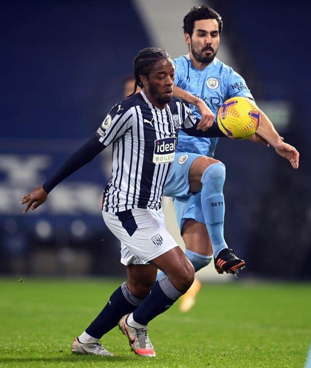 Romaine Sawyers was racially abused online during West Brom's Premier League defeat to Manchester City