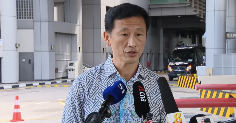 Singapore Transport Minister Ong Ye Kung addresses reporters at the Causeway on Thursday, 29 July 2020. SCREENCAP: YouTube