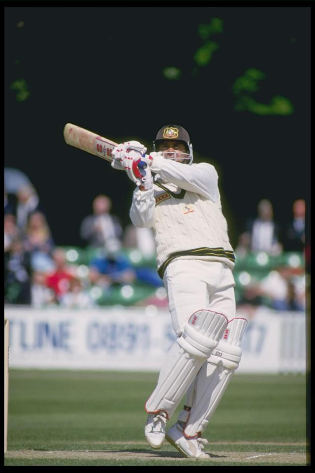 May 1993:  Mark Taylor of Australia batting during the Australian tour of England.                           Mandatory Credit: Ben Radford/Allsport UK