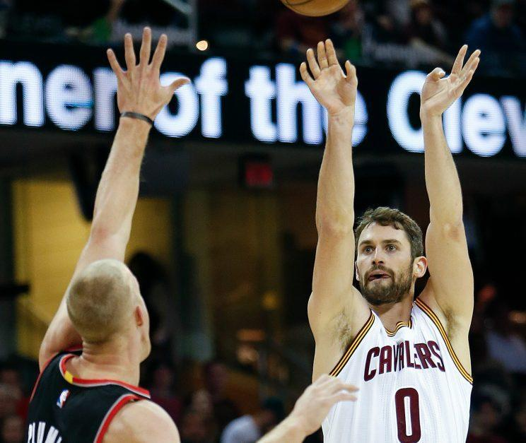 Kevin Love matched his previous Cavs high in one quarter on Wednesday. (Associated Press)