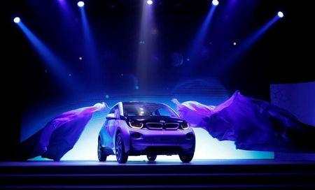 BMW's first all-electric car i3 is unveiled at a ceremony in Beijing