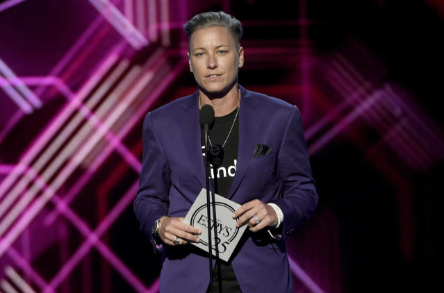 "Abby Wambach's car was taken for a joy ride and vandalized with ""hate speech."" (AP Photo)"