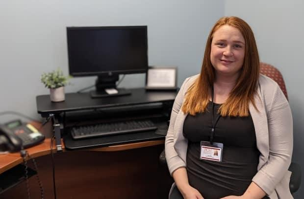 'It's very humbling to be in this position and be able to hear people's stories and to be able to offer that support to them and find them the best place for that support,' says Community Mental Health intake worker Star Milton, who works in Summerside. (Submitted by Star Milton - image credit)