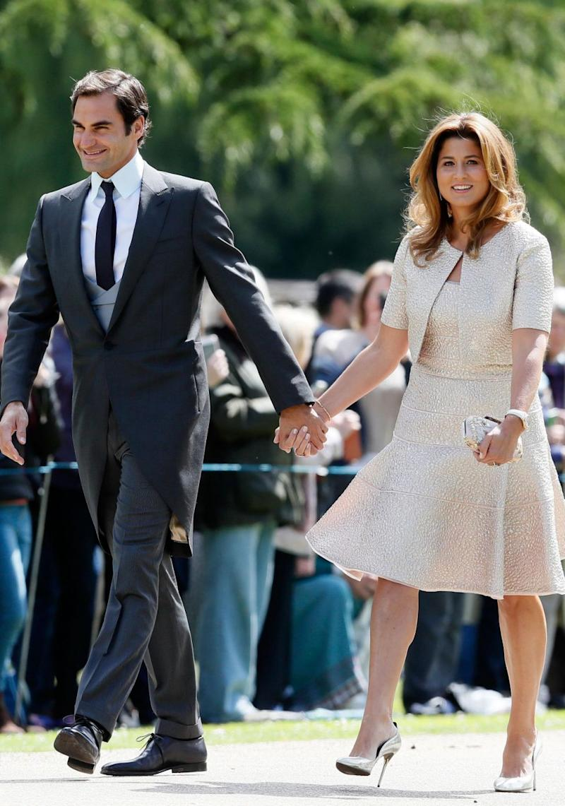 Tennis player Roger Federer and wife Mirka also attended. Source: Getty