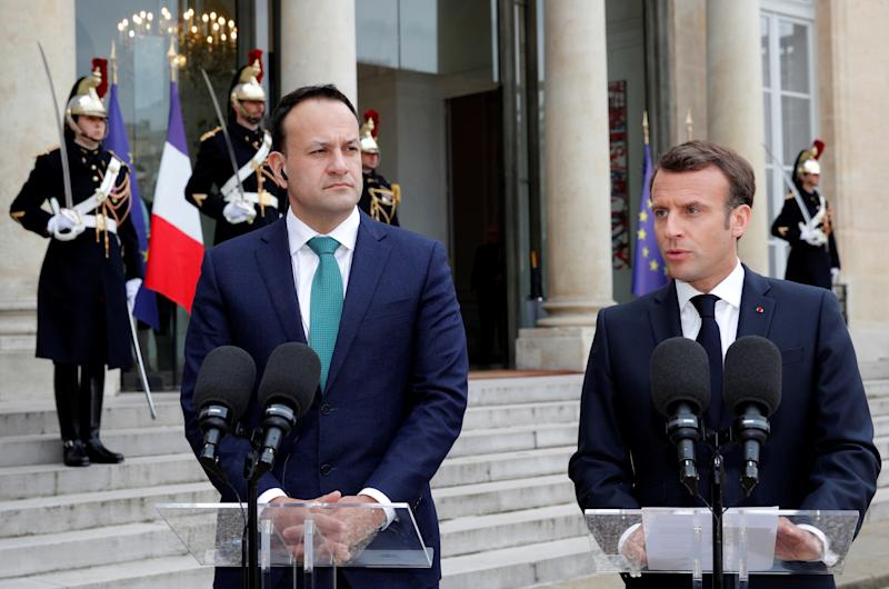 French and Irish leaders meet in Paris to discuss Brexit