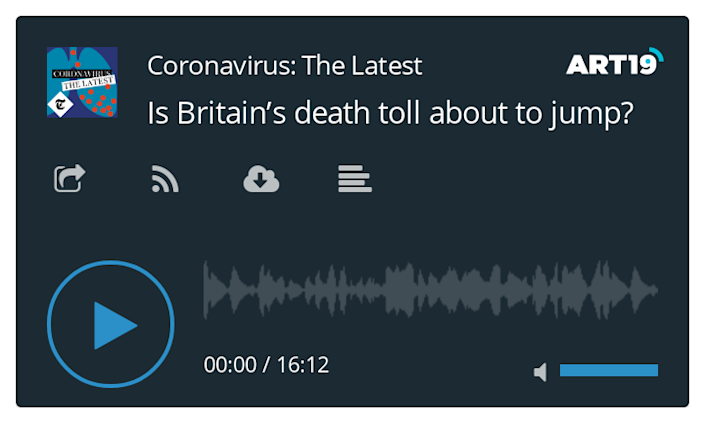 Coronavirus podcast - Is Britain's death toll about to jump?