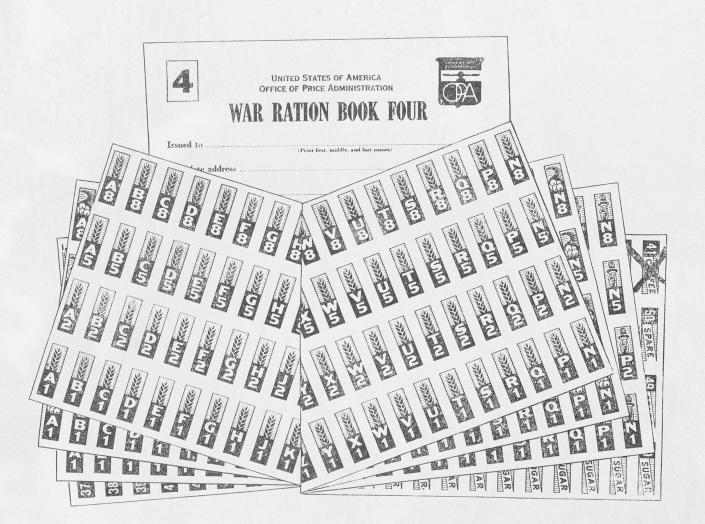 FILE - This Sept. 17, 1943, file image shows the war ration book four, issued by the office of price administration. Not since World War II when people carried Ration Books with stamps that allowed them to purchase meat, sugar, butter, cooking oil and gasoline has the entire nation been asked to truly sacrifice for a greater good. (AP Photo, File)