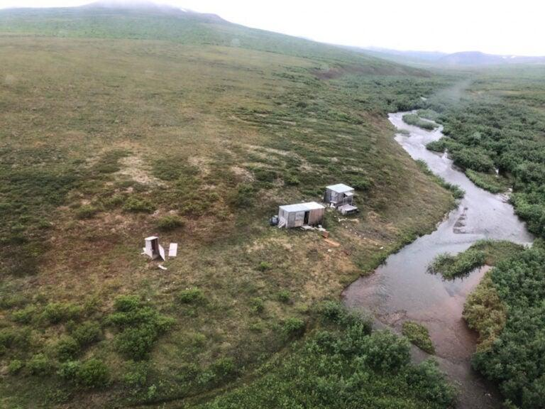 A man was rescued from a remote mining camp after being attacked by a grizzly bear (United States Coast Guard)