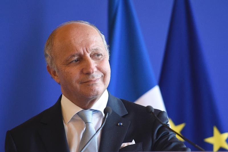 "French Foreign Affairs Minister Laurent Fabius says there is a ""most terrifying risk"" the Syria conflict becomes a religious war (AFP Photo/Miguel Medina)"