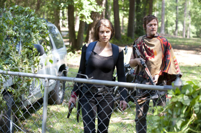 "Maggie Greene (Lauren Cohan) and Daryl Dixon (Norman Reedus) in ""The Walking Dead"" episode, ""Say the Word."""