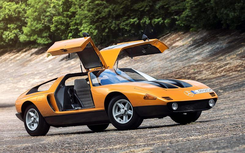 Gullwing doors were a signature feature on the Mercedes C111 - www.richardpardon.co.uk
