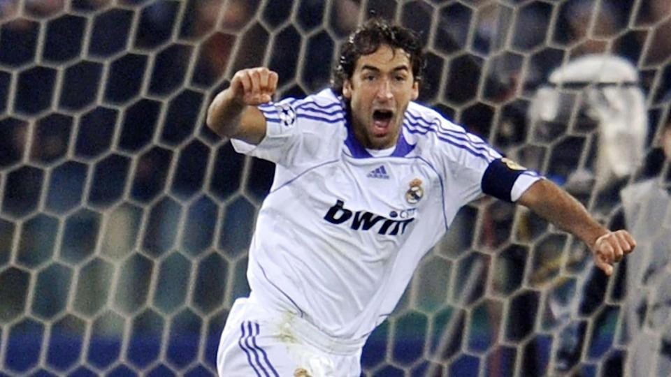 Real Madrid's forward Raul celebrates af | ANDREAS SOLARO/Getty Images
