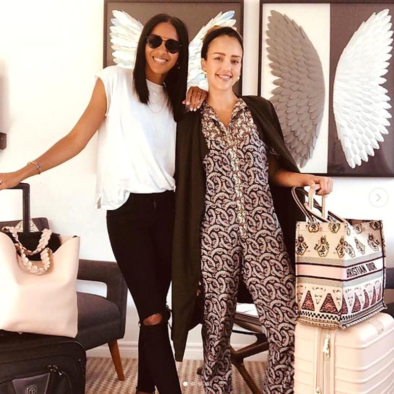 Lizzy Mathis and Jessica Alba   The Private Suite Instagram