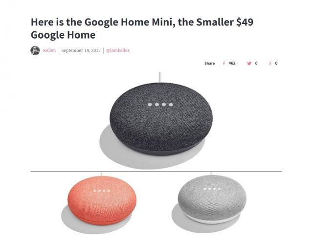 Google Home Mini leaks in three new colours