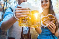"""<p>""""There are so many great fall festivals and Oktoberfest is a biggie,"""" says Rachel Federoff of <a href=""""https://www.loveandmatchmaking.com/"""" rel=""""nofollow noopener"""" target=""""_blank"""" data-ylk=""""slk:Love and Matchmaking"""" class=""""link rapid-noclick-resp"""">Love and Matchmaking</a>. """"Having fun and letting loose makes a person feel those endorphins, which can lead to romance,"""" she adds. If your local bar doesn't have anything planned (or is just too crowded), have your own Oktoberfest in your backyard or your local park. Just load up on local craft beers and whip up some <a href=""""https://go.redirectingat.com?id=74968X1596630&url=https%3A%2F%2Fwww.williams-sonoma.com%2Fproducts%2Fsoft-pretzel-beer-mustard-making-kit%2F%3FcatalogId%3D41%26sku%3D4933532%26cm_ven%3DPLA%26cm_cat%3DGoogle%26cm_pla%3DGarden%2B%253E%2BDIY%2B%2526%2BHomemade%2BKits%26cm_ite%3D4933532%26gclid%3DCjwKCAjwydP5BRBREiwA-qrCGhzcXwVr4GBcG7_b3LKOe9IFlxSOdQS0ziL_gePFqRSbvmFwlj21phoCIiYQAvD_BwE&sref=https%3A%2F%2Fwww.oprahdaily.com%2Flife%2Frelationships-love%2Fg28182090%2Fromantic-fall-date-ideas%2F"""" rel=""""nofollow noopener"""" target=""""_blank"""" data-ylk=""""slk:soft pretzels"""" class=""""link rapid-noclick-resp"""">soft pretzels</a>. Whether or not you both opt for lederhosen is up to you.</p>"""