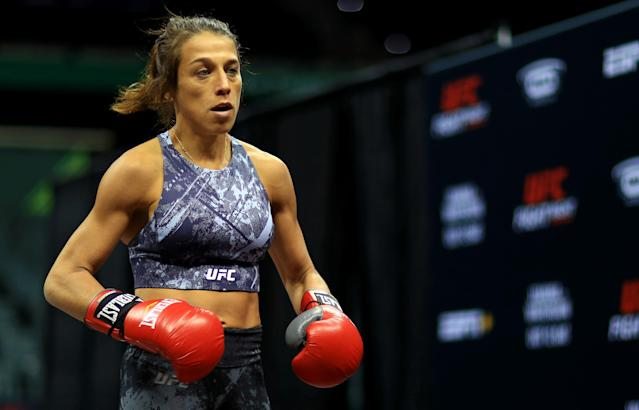 Joanna Jedrzejczyk posted a meme. Her opponent wasn't happy. (Photo by Mike Ehrmann/Zuffa LLC/Zuffa LLC)