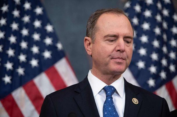 PHOTO: House Permanent Select Committee on Intelligence Chairman Adam Schiff holds a press conference at the US Capitol in Washington, D.C., Dec. 18, 2019. (Saul Loeb/AFP via Getty Images, FILE)