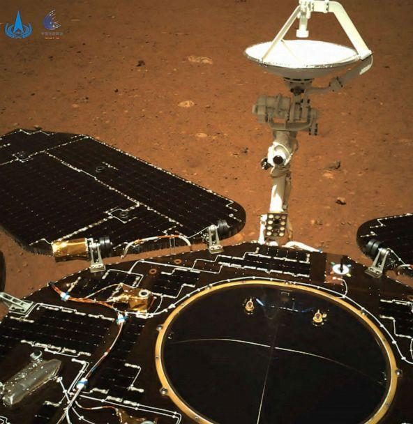 PHOTO: China's Zhurong rover sends back images from Mars. (CNSA/AFP via Getty Images, FILE)