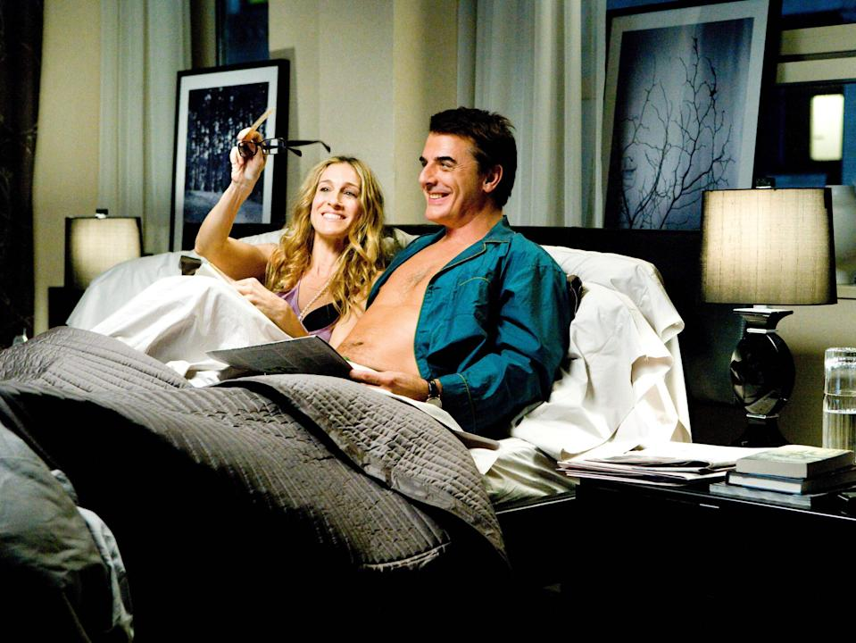 Sarah Jessica Parler and Chris Noth in the 2008 'Sex and the City' movie (New Line/Kobal/Shutterstock)