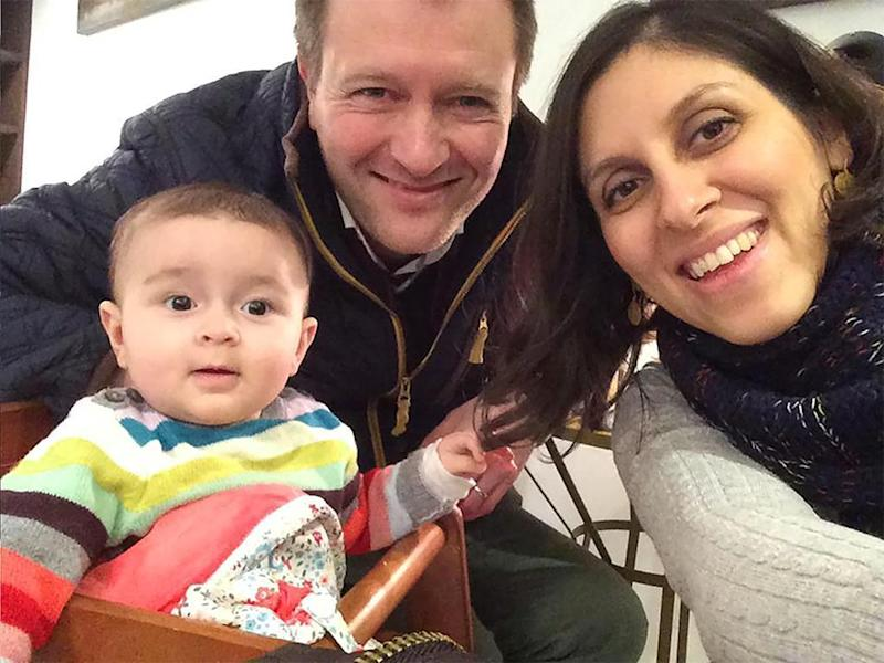 Nazanin Zaghari-Ratcliffe with husband Richard and daughter Gabriella (Change.org)