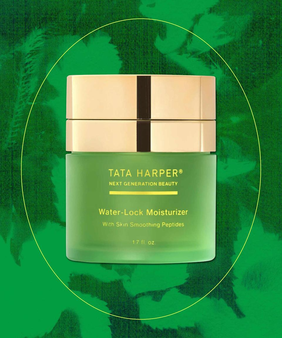 "<strong>Tata Harper Water-Lock Moisturizer</strong><br><br>A lightweight silicone-free and refillable(!) moisturizer-primer hybrid that uses water-locking technology to inject hydration (macro hyalruonic acid and pomegranate) and to strengthen the skin barrier (orange peptides). <br><br><strong>Sustainability shout-out:</strong> toxic-free product, cruelty-free, made in the USA, and refillable <br><br><strong>Tata Harper</strong> Water-Lock Moisturizer, $, available at <a href=""https://go.skimresources.com/?id=30283X879131&url=https%3A%2F%2Fwww.nordstrom.com%2Fs%2Ftata-harper-water-lock-moisturizer%2F5707494%3Forigin%3Dkeywordsearch-personalizedsort%26breadcrumb%3DHome%252FAll%2520Results%26color%3D000"" rel=""nofollow noopener"" target=""_blank"" data-ylk=""slk:Nordstrom"" class=""link rapid-noclick-resp"">Nordstrom</a>"