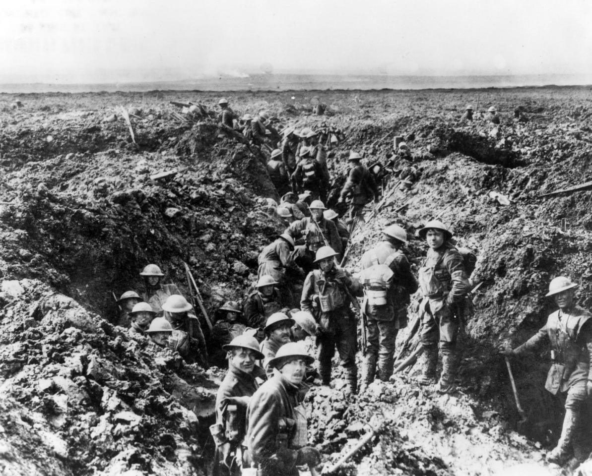<p>Canadian soldiers are seen in the trenches at Vimy Ridge in 1917. Photo from CP. </p>