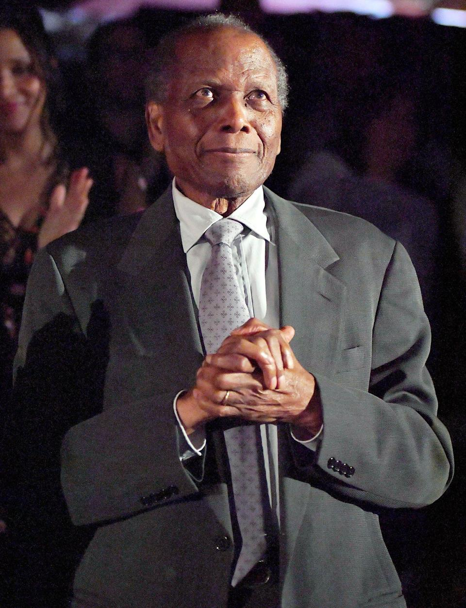 <p>Now 94, Poitier made a rare public appearance at the 50th anniversary screening of <em>In the Heat of the Night</em> during the 2017 TCM Classic Film Festival in L.A.</p>